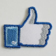 FACEBOOK LIKE SOCIAL IRON ON PATCH SAW BADGE APPLIQUE D.I.Y. HAND CRAFT #IPss04