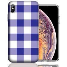 MUNDAZE Apple iPhone XR Design Case - Blue White Plaid Cover