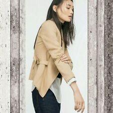 Zara Hip Length Linen Blazer Coats & Jackets for Women