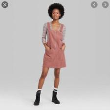 Women's Sleeveless Overall Style Corduroy Mini Dress Wild Fable NWT Med NWT 19