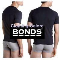 BLACK Mens BONDS Raglan Crew Round T Shirt Tee Singlet Top 14 16 18 20 22 24 26