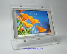 iPad 2/3/4 Clear Acrylic Desktop Stand - Kiosk, Show Store Display, POS, Square