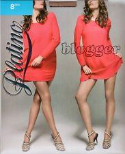 Platino Blogger 8 Denier STW Tights Pantyhose - Large - Beige (Caresse)