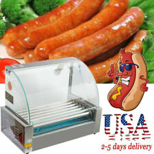 Electric Roller Commercial 18Hotdog Hot Dog 7Roller Grill Cooker Machine 2019 US