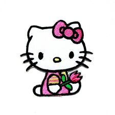 Hello Kitty Classic Cute Cartoon Kid Girl Fabric Transfer Embroidery Iron Patch