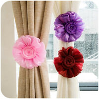 Happy Home Rose Flower Tie Backs / Holdbacks For Voile & Net Curtain Panels