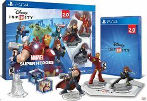 Disney INFINITY: Marvel Super Heroes (2.0) Video Game Starter Pack - PS4 SEALED!