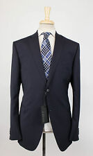 NWT. Z ZEGNA Navy Blue Wool 2 Button Suit 56/46 R Drop 7 $1345