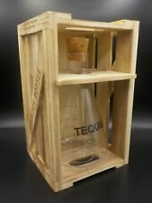 Artland Mixology Tequila Bottle Glass Decanter 750 mL with Wooden Crate Case New