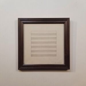 AGNES MARTIN drawing - Sol Lewitt Style - GEOMETRIC ABSTRACTION WORK