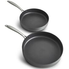 """VonShef Non Stick Anodized Frying Pan Skillet Set - 9.5"""" and 11"""" High Quality"""
