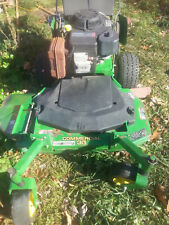 """used gas tank for John Deere GS30 36"""" walk behind MIssing cap includes bolts"""