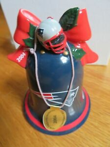 2004 NEW ENGLAND PATRIOTS Super Bowl XXXIX Champs Christmas Ornament Bell BRADY