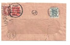 HONG KONG ROYAL NAVY-REDIRECTED WINDOW ENVELOPE EX-KOWLOON 13.4.1948