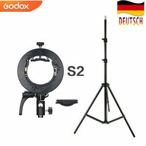 DE Godox S2 Blitzhalter Bowens + Lichtstativ Staiv für V1 AD100Pro AD200Pro