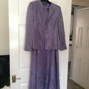 Jacques Vert Stunning Mother of the Bride Long Dress (14) & Jacket (12)