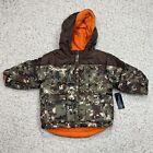 Faded Glory Toddler Boys Jacket sz 18M Camo Orange Reversable Pockets Winter New