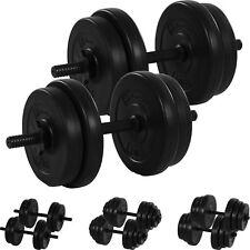 MOVIT 2x 10kg Hanteln 20 kg Hantelset Hantel Kurzhantel Kurzhanteln Gewichte Set