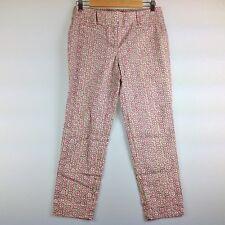 Ann Taylor Loft Pants Women 2 Marisa Cropped Pink Beige