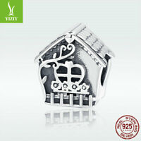 New arrival 925 Sterling Silver Charm House of Love Bead For Girl Bracelet Chain