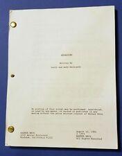 ASSASSINS original script SYLVESTER STALLONE 1995 MOORE BANDERAS WACHOWSKIS