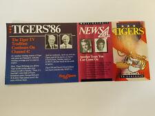 Detroit Tigers 1986 MLB Baseball Pocket Schedule - WDIV