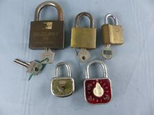 Lot de 5 cadenas dont un ABUS SERAM N° 77 SECAD FRANCE SECURIT + clés