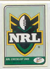 Checklist Select NRL & Rugby League Trading Cards