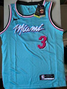 Nike Miami Heat Dwyane Wade #3 City Edition Swingman Jersey Blue Size M