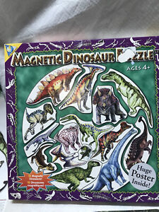 Magnetic Dinosaur Puzzle All Pieces Here Includes Poster The Orb Factory