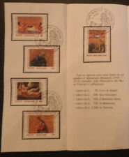 Vatican City Sc#866-9 FDC on Offical Bulletin, Christmas 1990 Issue