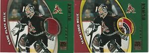 NHL Shield Tag Sean Burke One of A Kind Patch Name Plate 01-02 Topps Reserve lot