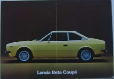 LANCIA BETA COUPE SERIES 2 1600 2000 1976 ORIGINALE FRANCESE FOLDOUT opuscolo