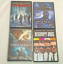 Lot Of 4 Action/Suspense Dvd's - Enemy Of The State, Inception, Reservoir Dogs