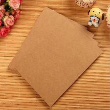 20Sheets Kraft Thick DIY Blank Post Greeting Card Double Side Sketch Doodle #Y5