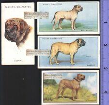 Bullmastiff Dogs 4 Different 75+ Y/O Ad Trade Cards