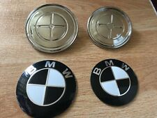 2x BMW 82mm 74mm Bonnet Boot Badges Trunk Badge E30 E46 E60 1 3 X Series Black