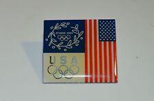 USA Olympic Pin Athens 2004 Square Pin