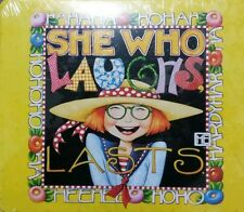 """Mary Engelbreit """"She Who Laughs Lasts"""" Decorative Tin Box Collectable Jc Penney"""
