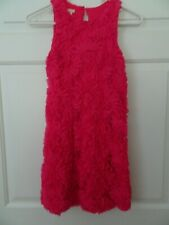 Children's Place Girls Size 10 Hot Pink Sleeveless Dressy/Fancy Dress-Tulle Over