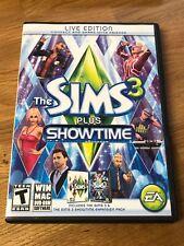 Sims 3 Plus Showtime (Windows/Mac, 2012) Complete