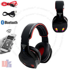 New Black LED Bluetooth Wireless TF MIC FM Radio Hands-free Headset Headphone