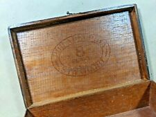 Sliding Lid Cigar Box Wood Cigar Box Vintage Advertisement Vintage 1970 Mahogany Cigar Box Vintage Cigar Box Cigar Collector