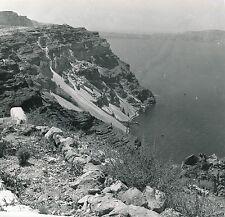 FIRA c. 1960 - Paysage Falaises La Mer Île de Santorin Grèce - Div 5814