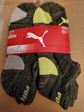 Puma low cut socks, large gray,  6 pairs