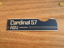 ABU CARDINAL 57 SIDE PLATE BADGE STICKER DECAL