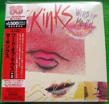 The Kinks - Word of Mouth (1984) JAPAN Mini LP CD (2008) NEW +2 bonus tracks