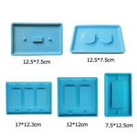 Crafts Making Crystal Epoxy Resin Mold Switch Socket Mould Panel Silicone d K5G6