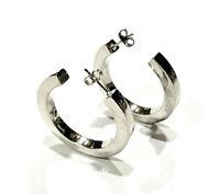 Bijou argent massif 925 boucles d'oreilles créoles earrings