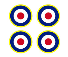 "Set of 4 Remote Control (RC10) RAF Roundels 4"" RC Airplane Sticker"
